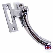 Aston Pear Drop Window Handle Polished Chrome