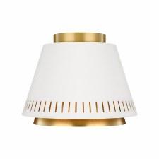 Feiss Carter Flush Ceiling Light White