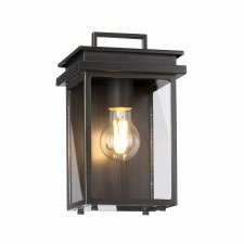 Feiss Glenview Wall Lantern Antique Bronze Small