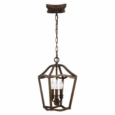 Feiss Yarmouth 3 Light Pendant Aged Brass Effect