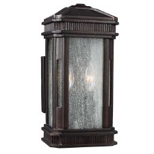 Feiss Federal Outdoor Wall Lantern Gilded Bronze