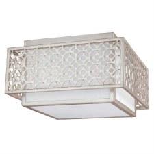 Feiss Kenney Ceiling Flush Mount Sunrise Silver