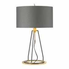 Elstead Ferrara Table Lamp Grey & Gold