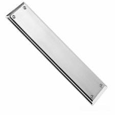 Samuel Heath Classic Finger Plate Polished Chrome