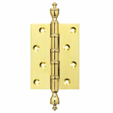 Finial Hinge Polished Brass with Ball Race