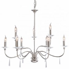 Elstead Finsbury 9L Chandelier Nickel