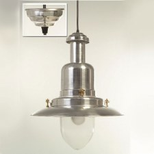 Extra Large Fishermans Ceiling Pendant Light Aluminium