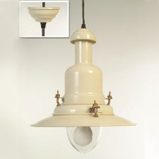 Extra Large Fishermans Ceiling Pendant Light Cream