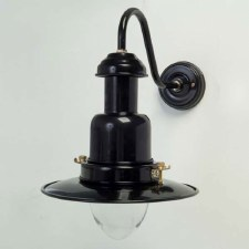 Small Fishermans Outdoor Wall Light Black