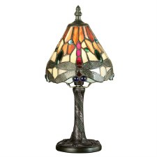 Interiors 1900 Red Dragonfly Tiffany Mini Table Lamp