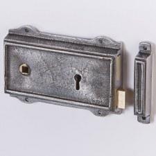 "6"" Flanged Iron Rim Lock Left Hand"