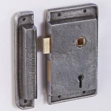 "2.5"" Flanged Upright Rim Lock Right Hand"