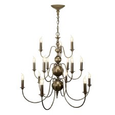 David Hunt FLE1563 Flemish 15 Light Chandelier Bronze