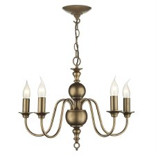 David Hunt FLE0563 Flemish 5 Light Chandelier Bronze