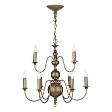 David Hunt FLE1363 Flemish 9 Light Chandelier Bronze