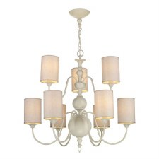 David Hunt FLE1333 Flemish 9 Light Chandelier Cream with Shades