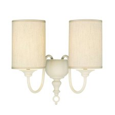 David Hunt FLE0933 Flemish Double Wall Light Cream with Shades