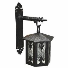 Kirkpatrick 407 Fleur-de-Lys Outdoor Wall Lantern Black