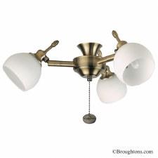 Florence 3 Light Cluster Antique Brass