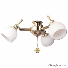 Florence 3 Light Cluster Brass