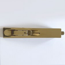 Aston Flush Door Bolt 152 x 25mm Polished Brass Unlacquered