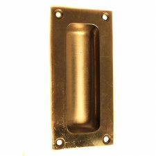 Samuel Heath Flush Pull Polished Brass Lacquered