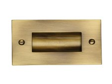 "Heritage Flush Pull Handle 4"" Antique Brass"