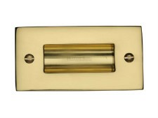 "Heritage Flush Pull Handle 4"" Polished Brass"
