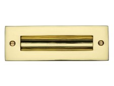 "Heritage Flush Pull Handle 6"" Polished Brass"