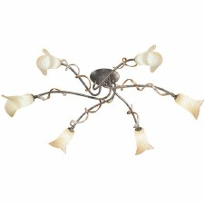 Elstead Fly 6 Light Flush Ceiling Light