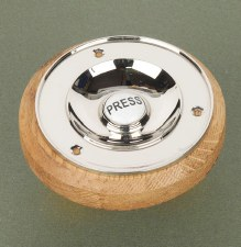 Foley Bell Push with Pattress Polished Nickel