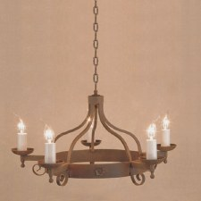 Forge 5 Light Chandelier Aged Iron
