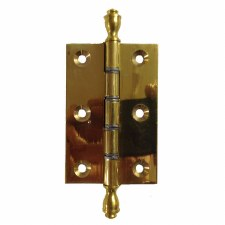 """Finial Butt Hinges 3"""" x 2"""" Polished Brass"""