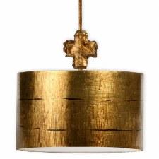 Flambeau Fragment Large Ceiling Pendant Light Aged Gold