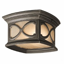 Kichler Franceasi Flush Porch Ceiling Light Olde Bronze