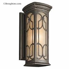Kichler Franceasi Medium Wall Lantern Olde Bronze