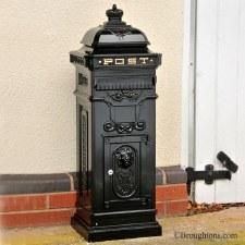Freestanding Post Box Black
