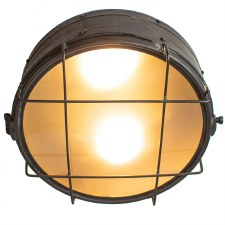 Freighter Bulkhead Ceiling Light Antique Brass