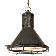 Freighter Hanging Pendant Lamp Antique