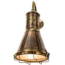 Freighter Wall Light, Light Antique Brass