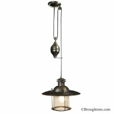French-style Rise & Fall Light Antique Brass