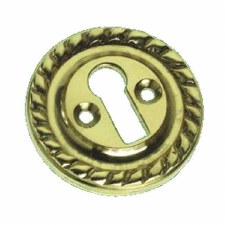 Georgian Escutcheon Polished Brass