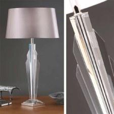 Interiors 1900 Gatsby Table Lamp Grey Shade