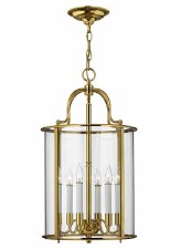 Hinkley Gentry Large Pendant Polished Brass