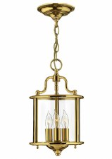 Hinkley Gentry Small Pendant Light Polished Brass