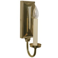 Georgian Single Candle Wall Light Sconce Renovated Brass