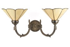 Georgian Double Wall Light Bronzed