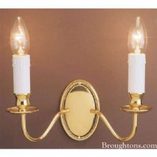 Georgian Double Wall Light Polished Brass
