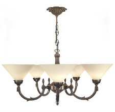 Georgian 5 Arm Chandelier Dark Bronze
