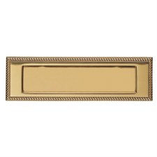 """Prima Brass PB01A 10"""" x 3"""" Letter Plate Polished Brass Lacquered"""